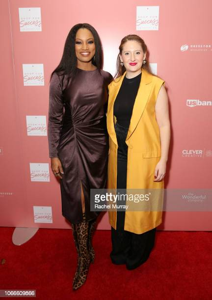 Host Garcelle Beauvais and Dress for Success WorldwideWest Director Lesley Brillhart arrive at Shop for Success Dress for Success West Coast...