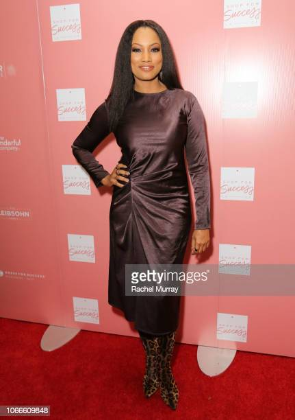 Host Garcelle Beauvais arrives at Shop for Success Dress for Success West Coast fundraiser on November 29 2018 in Los Angeles California