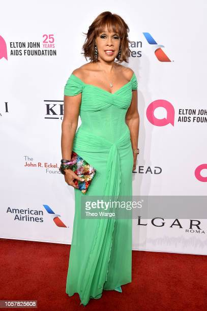 Host Gayle King attends the Elton John AIDS Foundation's 17th Annual An Enduring Vision Benefit at Cipriani 42nd Street on November 5 2018 in New...
