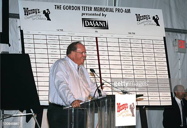 Host George Lehner during LPGA 2004 Wendy's Championship for Children Gordon Teter Memorial ProAm Draw Party in Dublin Ohio United States Photo by...