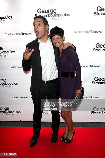TV host George Stroumboulopoulos and journalist AnneMarie Mediwake attends The Hazelton Takeover at The Hazelton Hotel during the 2011 Toronto...