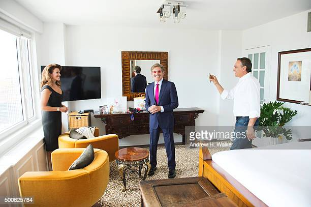 TV host Geraldo Rivera and wife Erica Michelle Levy are photographed for 25A Magazine on August 13 2015 in New York City PUBLISHED IMAGE