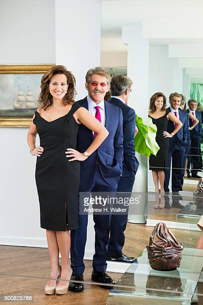 TV host Geraldo Rivera and wife Erica Michelle Levy are photographed for 25A Magazine on August 13 2015 in New York City