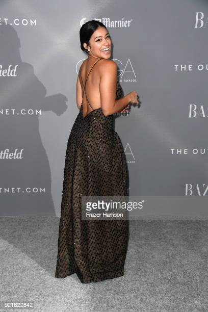 Host Gina Rodriguez attends the Costume Designers Guild Awards at The Beverly Hilton Hotel on February 20 2018 in Beverly Hills California