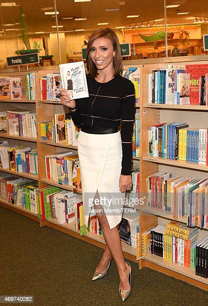 Host Giuliana Rancic attends a book signing for 'Going Off Script' at Barnes Noble bookstore at The Grove on April 14 2015 in Los Angeles California
