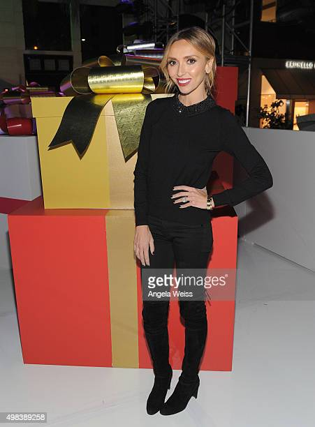 TV host Giuliana Rancic attends the Beverly Hills Holiday Lighting Ceremony on Rodeo Drive on November 22 2015 in Beverly Hills California