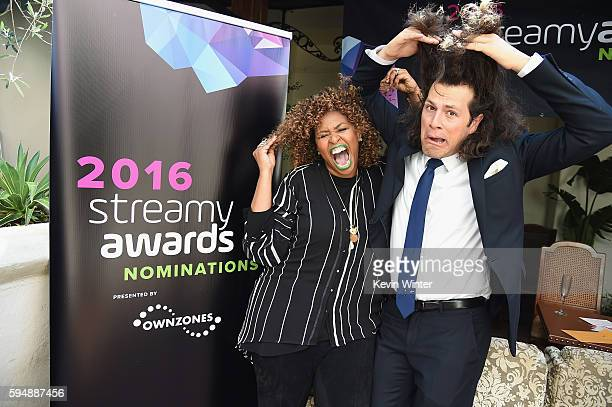 Host GloZell Green and Creator and Executive Producer of the Streamy Awards Drew Baldwin attend The 6th Annual Streamy Awards nominations event...