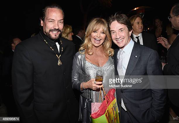 Host Goldie Hawn host committee member Martin Short and guest attend Goldie Hawn's inaugural Love In For Kids benefiting the Hawn Foundation's MindUp...