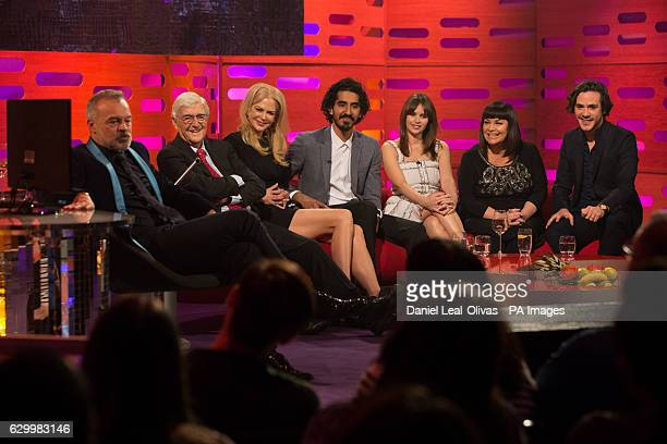 Host Graham Norton Sir Michael Parkinson Nicole Kidman Dev Patel Felicity Jones Dawn French and Jack Savoretti during filming of the Graham Norton...