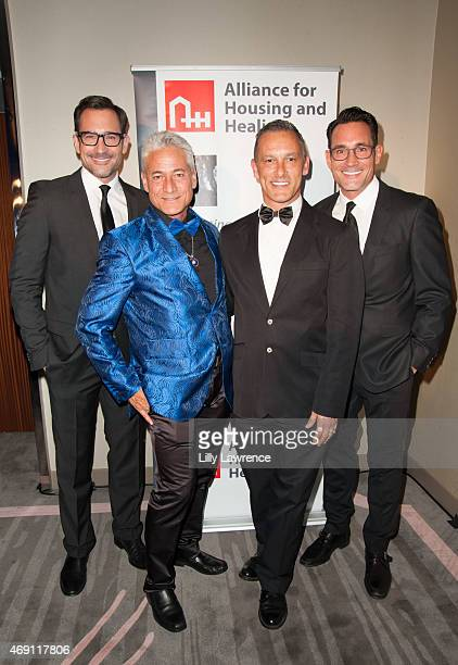 Host Gregory Zarian Alliance for Housing and Healing Honorees Greg Louganis and Johnny Chaillot and Host Lawrence Zarian attend Alliance For Housing...