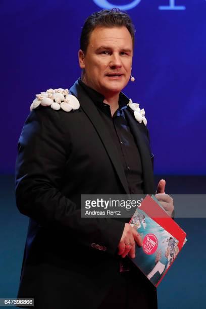 Host Guido Maria Kretschmer speaks during the Glammy Award 2017 on March 2, 2017 in Munich, Germany.