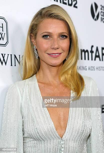 Host Gwyneth Paltrow attends amfAR's Inspiration Gala Los Angeles at Milk Studios on October 29 2015 in Hollywood California