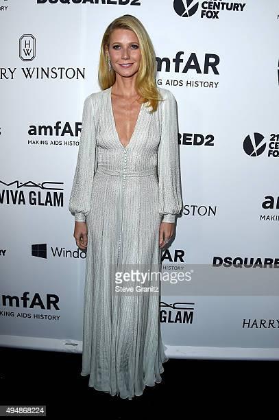 Host Gwyneth Paltrow attends amfAR's Inspiration Gala Los Angeles at Milk Studios on October 29, 2015 in Hollywood, California.