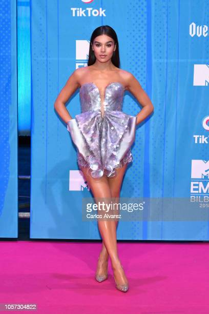 Host Hailee Steinfeld attends the MTV EMAs 2018 at Bilbao Exhibition Centre on November 4, 2018 in Bilbao, Spain.