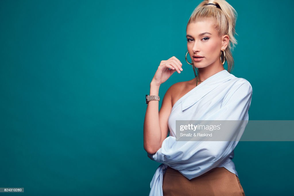Host Hailey Baldwin of Turner Networks 'TBS Drop the Mic' poses for a portrait during the 2017 Summer Television Critics Association Press Tour at The Beverly Hilton Hotel on July 27, 2017 in Beverly Hills, California.