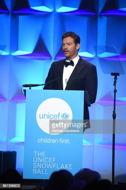 Host Harry Connick Jr speaks on stage at 13th Annual UNICEF Snowflake Ball 2017 at Cipriani Wall Street on November 28 2017 in New York City
