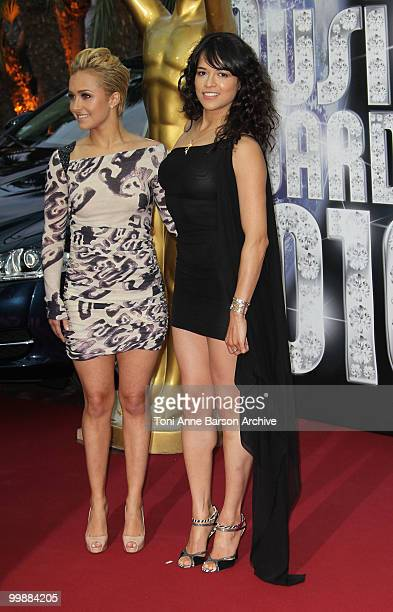 Host Hayden Panettiere and actress Michelle Rodriguez attend the World Music Awards 2010 at the Sporting Club on May 18 2010 in Monte Carlo Monaco