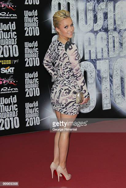 Host Hayden Panettiere attends the World Music Awards 2010 at the Sporting Club on May 18 2010 in Monte Carlo Monaco