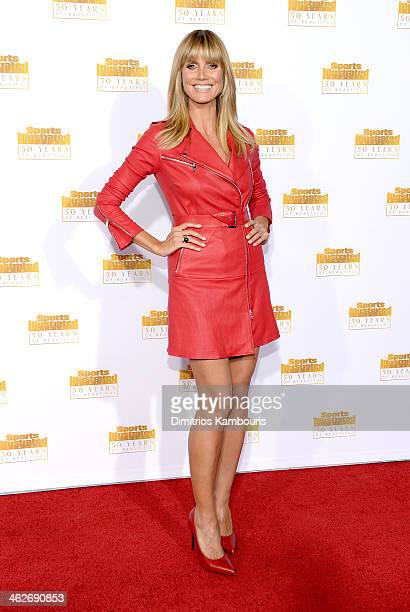 Host Heidi Klum attends NBC and Time Inc celebrate the 50th anniversary of the Sports Illustrated Swimsuit Issue at Dolby Theatre on January 14 2014...