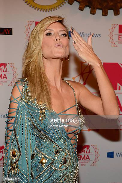 Host Heidi Klum on November 11 2012 in Frankfurt am Main Germany
