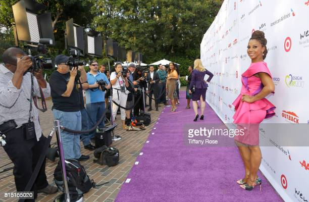 Host Holly Robinson Peete at HollyRod Foundation's DesignCare Gala on July 15 2017 in Pacific Palisades California