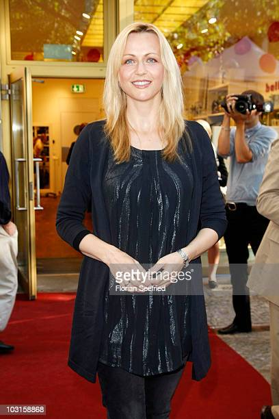 TV host Inge Steiner attends the 'Bellybutton Shop Opening' at the new store at Kurfuerstendamm on July 29 2010 in Berlin Germany