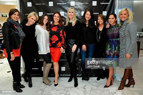 Host Irena Medavoy and guests attend Town Country's Stellene Volandes and Irena Medavoy Celebrate The Golden Globes with a preview of Roberto Coin's...