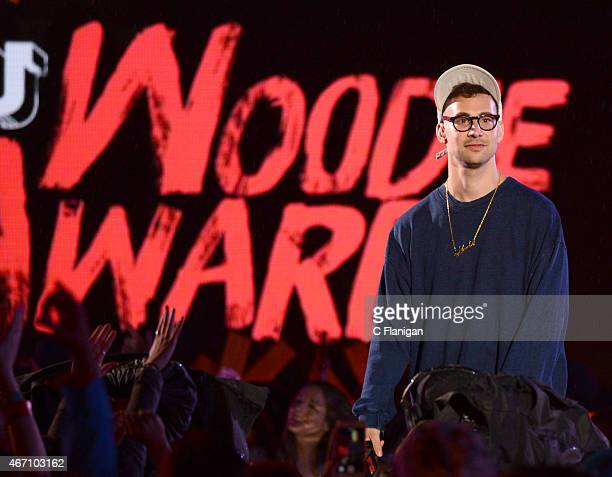 Host Jack Antonoff speaks onstage at the 2015 mtvU Woodie Awards on March 20, 2015 in Austin, Texas.