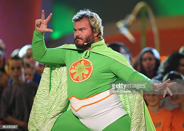 Host Jack Black onstage during Nickelodeon's 2008 Kids' Choice Awards held at the Pauley Pavilion on March 29 2008 in Westwood California