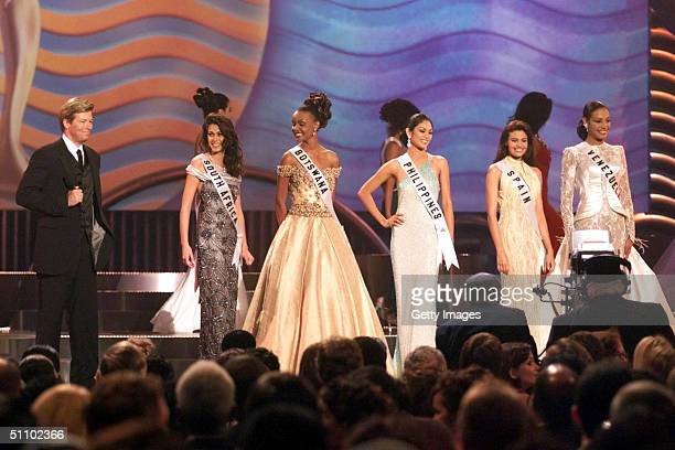 Host Jack Wagner Announces The Top 5 Delegates Remaining To Compete For The 1999 Miss Universe Pageant At The Universe Centre Chaguaramas Trinidad...