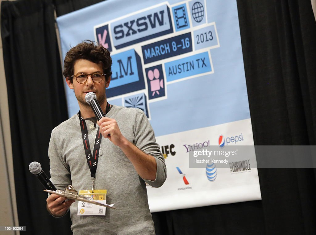 Host Jacob Soboroff speaks onstage at Startup Alley: Fastball Speed Pitches during the 2013 SXSW Music, Film + Interactive Festival at Austin Convention Center on March 10, 2013 in Austin, Texas.