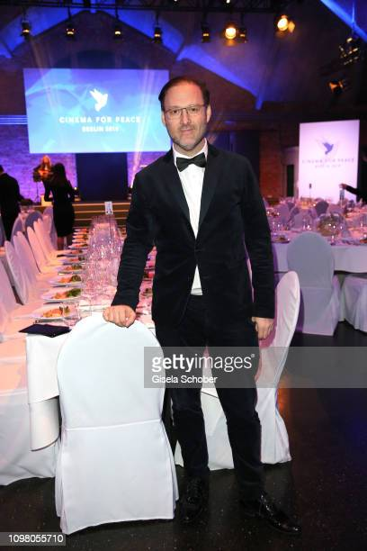 Host Jaka Bizilj during the Cinema for Peace Gala at the Westhafen Event & Convention Center on February 11, 2019 in Berlin, Germany.