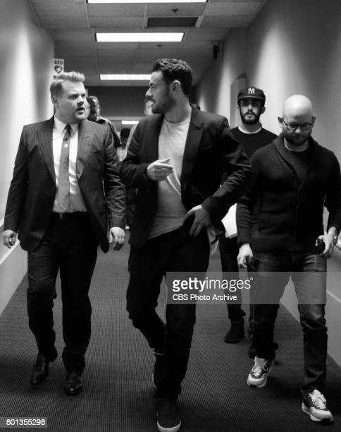 Host James Corden and Executive Producer Ben Winston during 'The Late Late Show with James Corden' Thursday June 22 2017 On The CBS Television Network