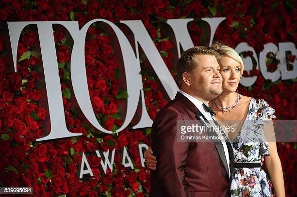 Host James Corden and Julia Carey attend the 70th Annual Tony Awards at The Beacon Theatre on June 12 2016 in New York City