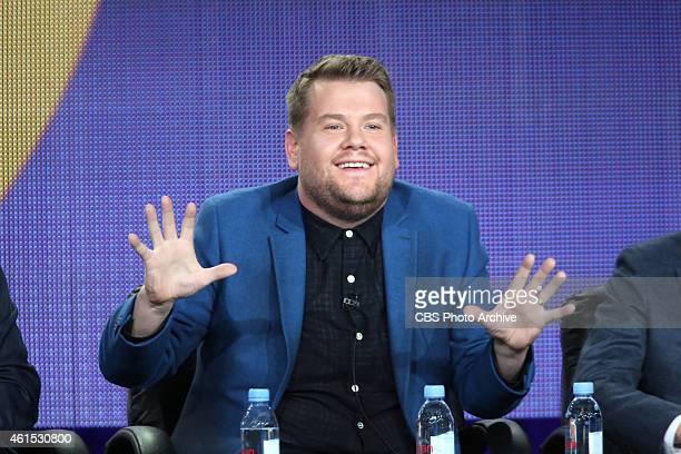 Host James Corden at CBS' 2015 Winter TCA Session for THE LATE LATE SHOW WITH JAMES CORDEN at The Langham Hotel in Pasadena California