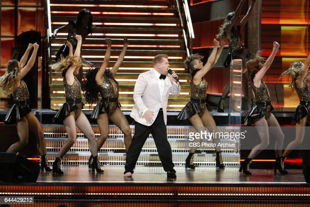 Host James Corden during THE 59TH ANNUAL GRAMMY AWARDS broadcast live from the STAPLES Center in Los Angeles Sunday Feb 12 on the CBS Television...