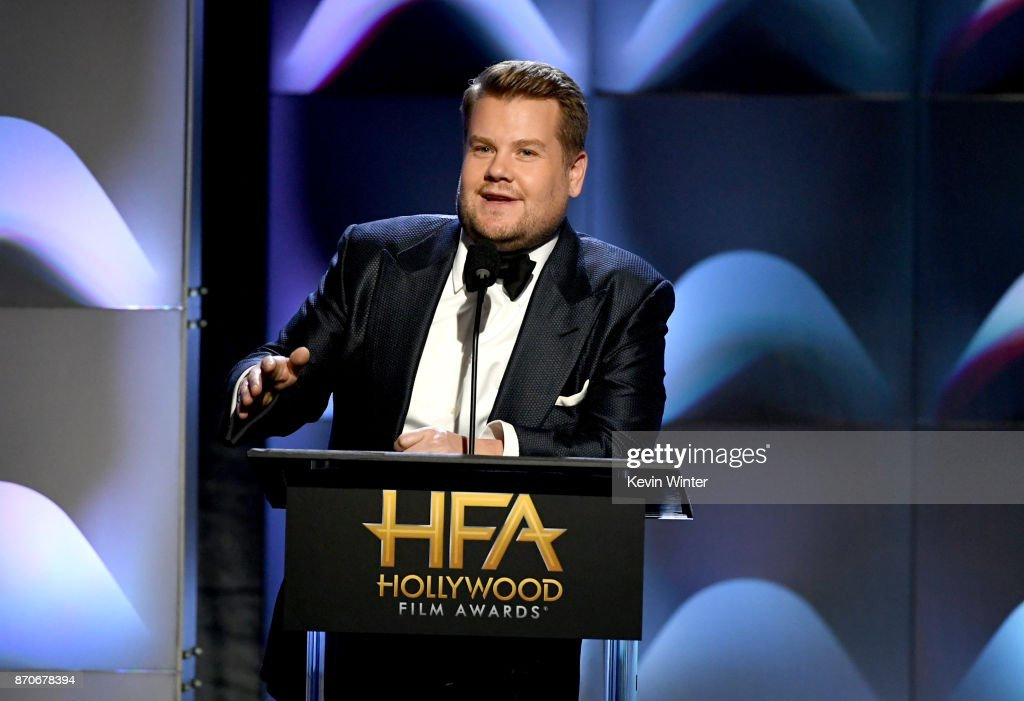 Host James Corden speaks onstage during the 21st Annual Hollywood Film Awards at The Beverly Hilton Hotel on November 5, 2017 in Beverly Hills, California.
