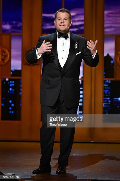 Host James Corden speaks onstage during the 70th Annual Tony Awards at The Beacon Theatre on June 12 2016 in New York City