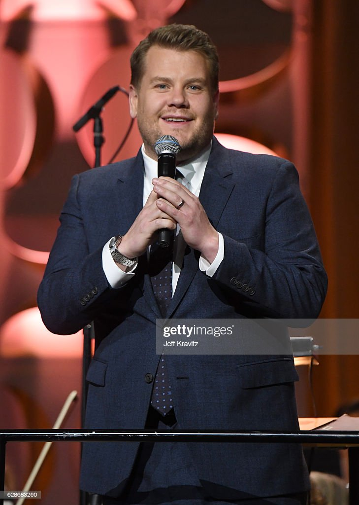 Host James Corden speaks onstage during the Ambassadors for Humanity Gala Benefiting USC Shoah Foundation at The Ray Dolby Ballroom at Hollywood & Highland Center on December 8, 2016 in Hollywood, California.
