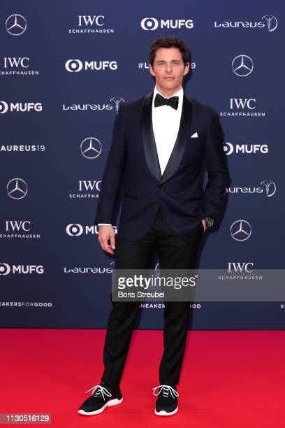 Host James Marsden arrives for the 2019 Laureus World Sports Awards on February 18 2019 in Monaco Monaco