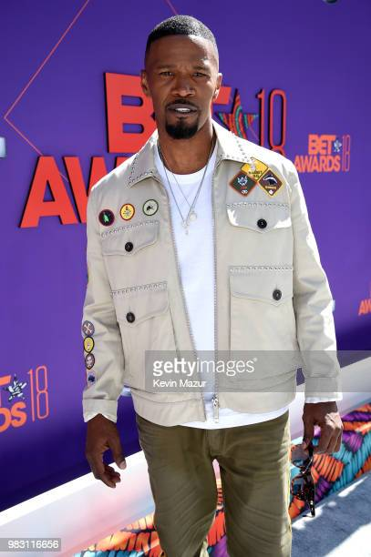 Host Jamie Foxx attends the 2018 BET Awards at Microsoft Theater on June 24 2018 in Los Angeles California