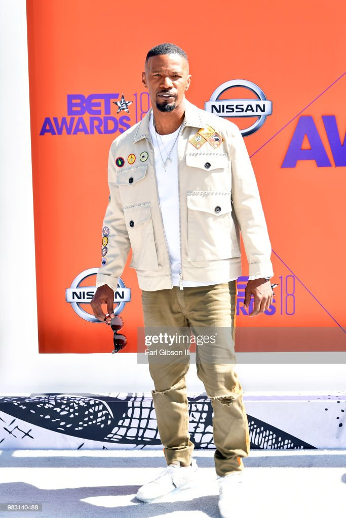 Host Jamie Foxx attends the 2018 BET Awards at Microsoft Theater on June 24, 2018 in Los Angeles, California.