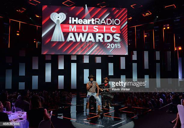 Host Jamie Foxx performs onstage during the 2015 iHeartRadio Music Awards which broadcasted live on NBC from The Shrine Auditorium on March 29, 2015...