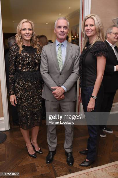 Host Jamie Tisch Roger Briggs and Michelle Woods attend the Country Music Hall Of Fame And Museum Reception With Carly Pearce For All For The Hall...