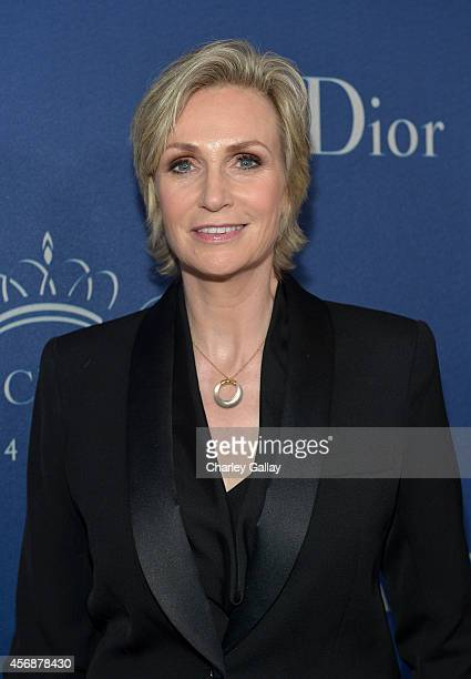 Host Jane Lynch attends the 2014 Princess Grace Awards Gala with presenting sponsor Christian Dior Couture at the Beverly Wilshire Four Seasons Hotel...