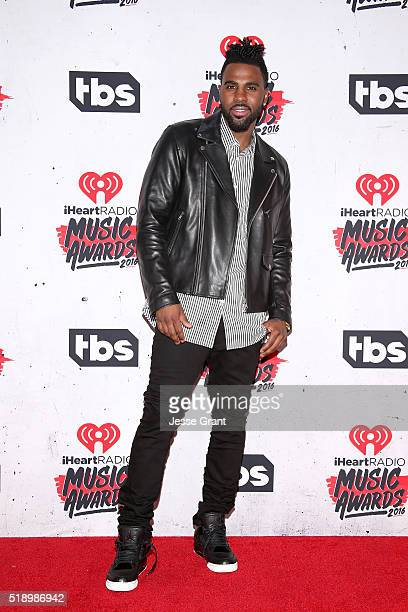 Host Jason Derulo poses in the press room during the iHeartRadio Music Awards at The Forum on April 3 2016 in Inglewood California