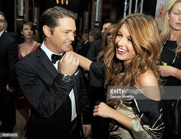 Host Jason Priestley and actress Shenae Grimes attend the 2008 Gemini Awards at the Metro Toronto Convention Centre on November 28, 2008 in Toronto,...