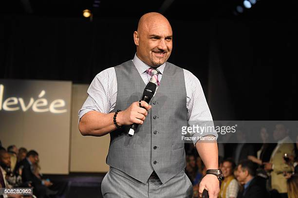 Host Jay Glazer speaks onstage during Glazer Palooza and Suits and Sneakers on February 3 2016 in San Francisco California