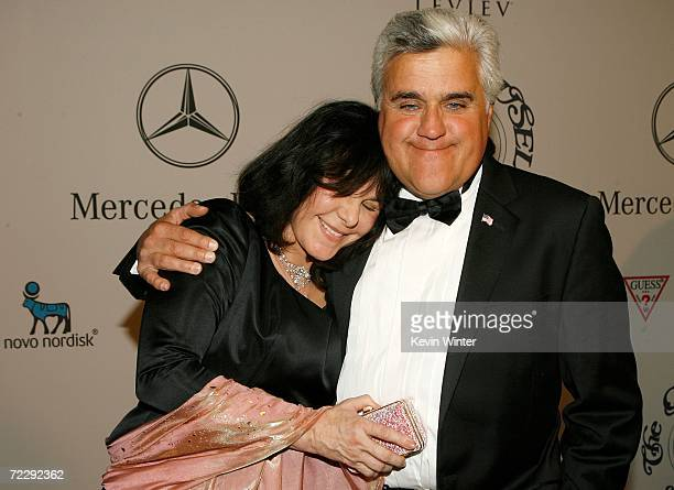 Host Jay Leno and wife Mavis Nicholson attend the 17th Annual MercedesBenz Carousel of Hope cocktail party at the Beverly Hilton Hotel on October 28...
