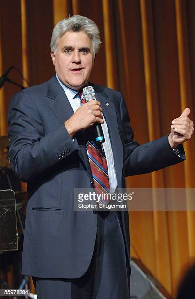 Host Jay Leno performs at the David Geffen School of Medicine at UCLA Visionary Awards at the Regent Beverly Wilshire Hotel on October 20 2005 in...